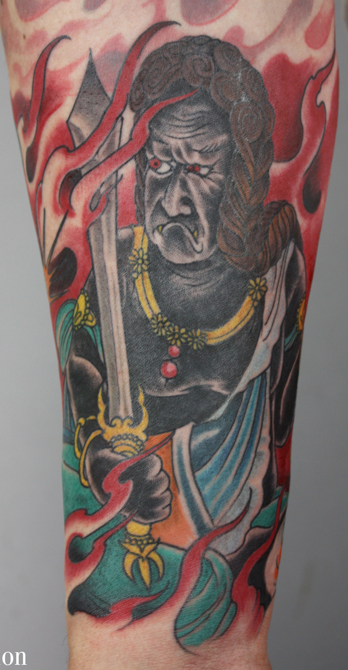 Mean looking fudo forearm