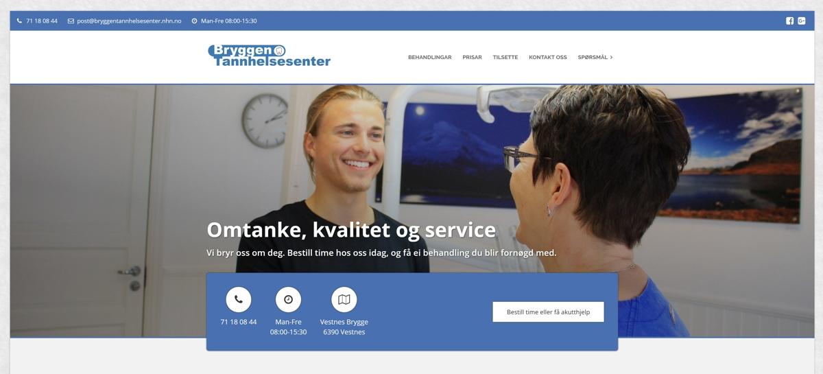 Knaus har lansert ny nettside for Bryggen Tannhelsesenter. Med topp moderne utstyr og lokaler er de klare for din bestilling!