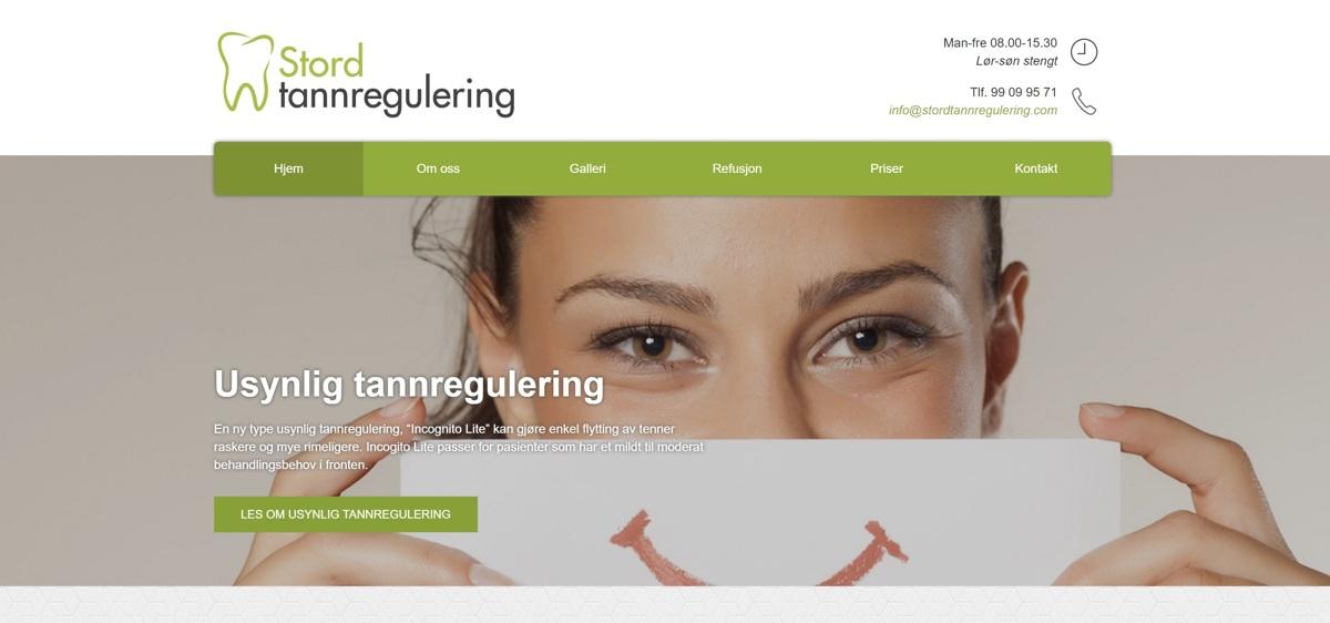 Vi fikk i oppdrag å lage nettside til Stord Tannregulering, vår første kunde i Hordaland. Sjekk ut deres nye responsive og moderne nettside!
