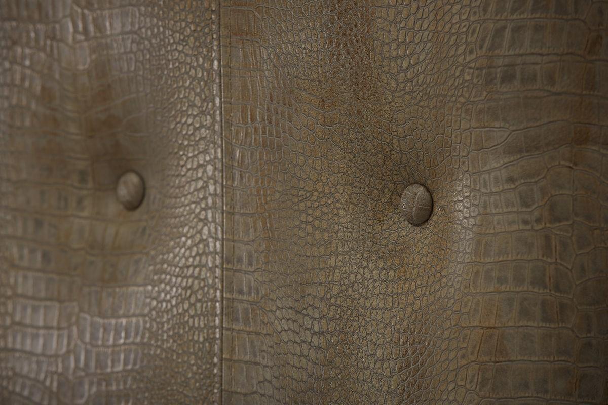 Morrissey Queen Lloyd Upholstered Shelter Bed Headboard Details