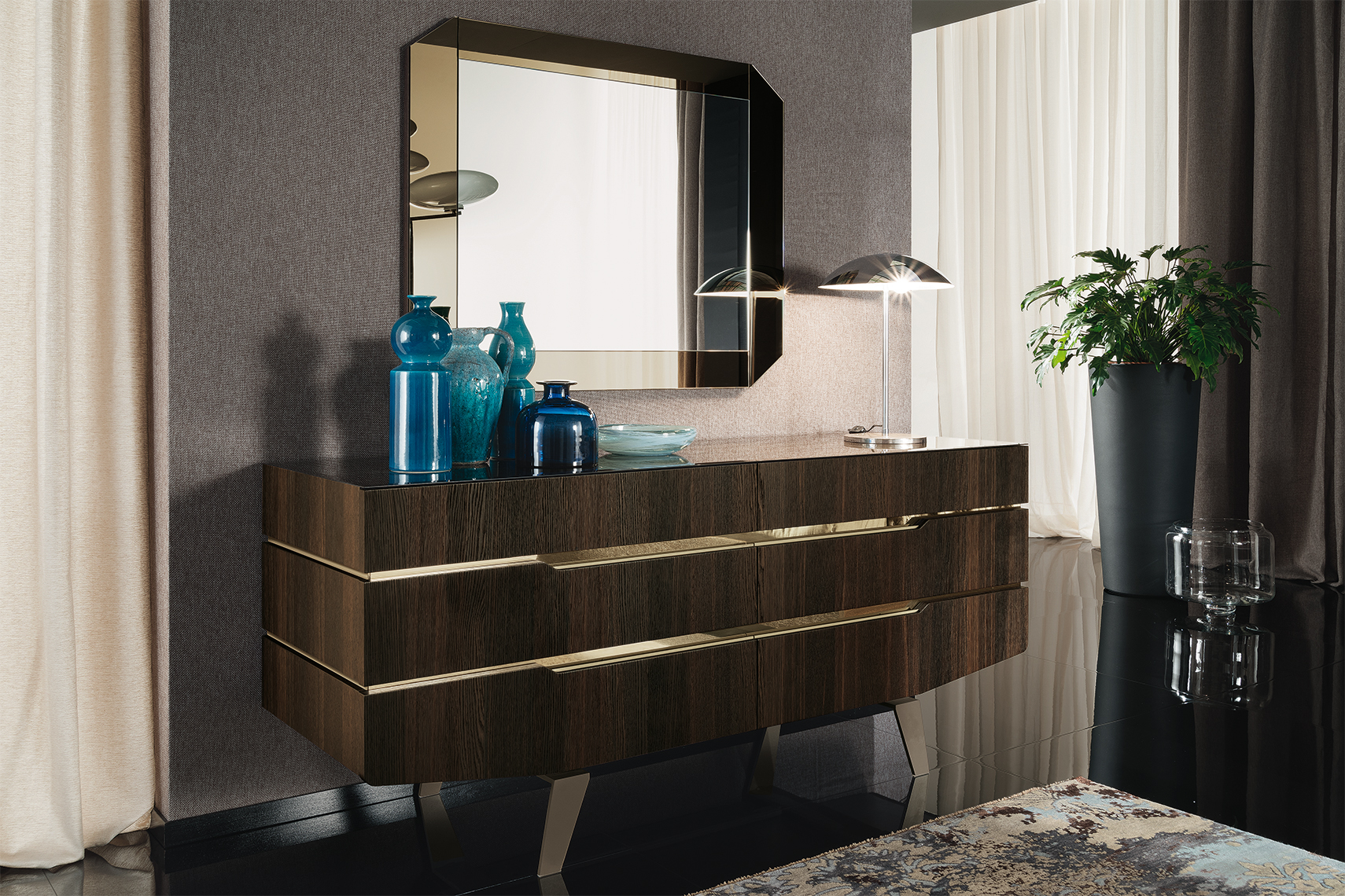Accademia Bedroom Dresser & Mirror