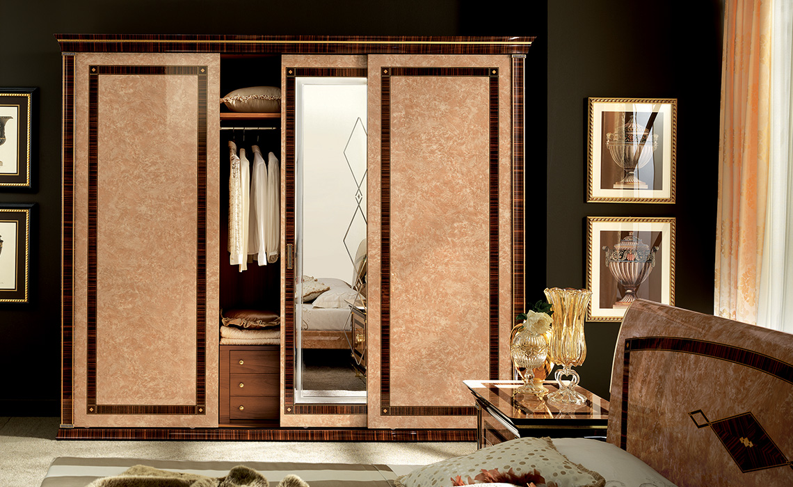 Rossini Bedroom three door sliding wardrobe