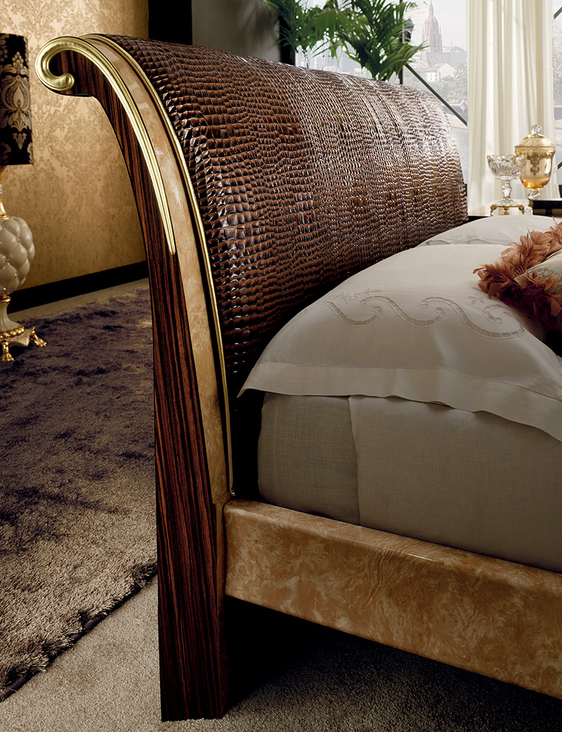 Rossini Bedroom upholstered bed headboard
