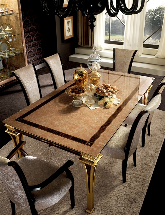 Rossini Dining room dining table with chairs