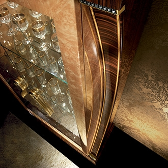 Rossini Dining four door cabinet side panel