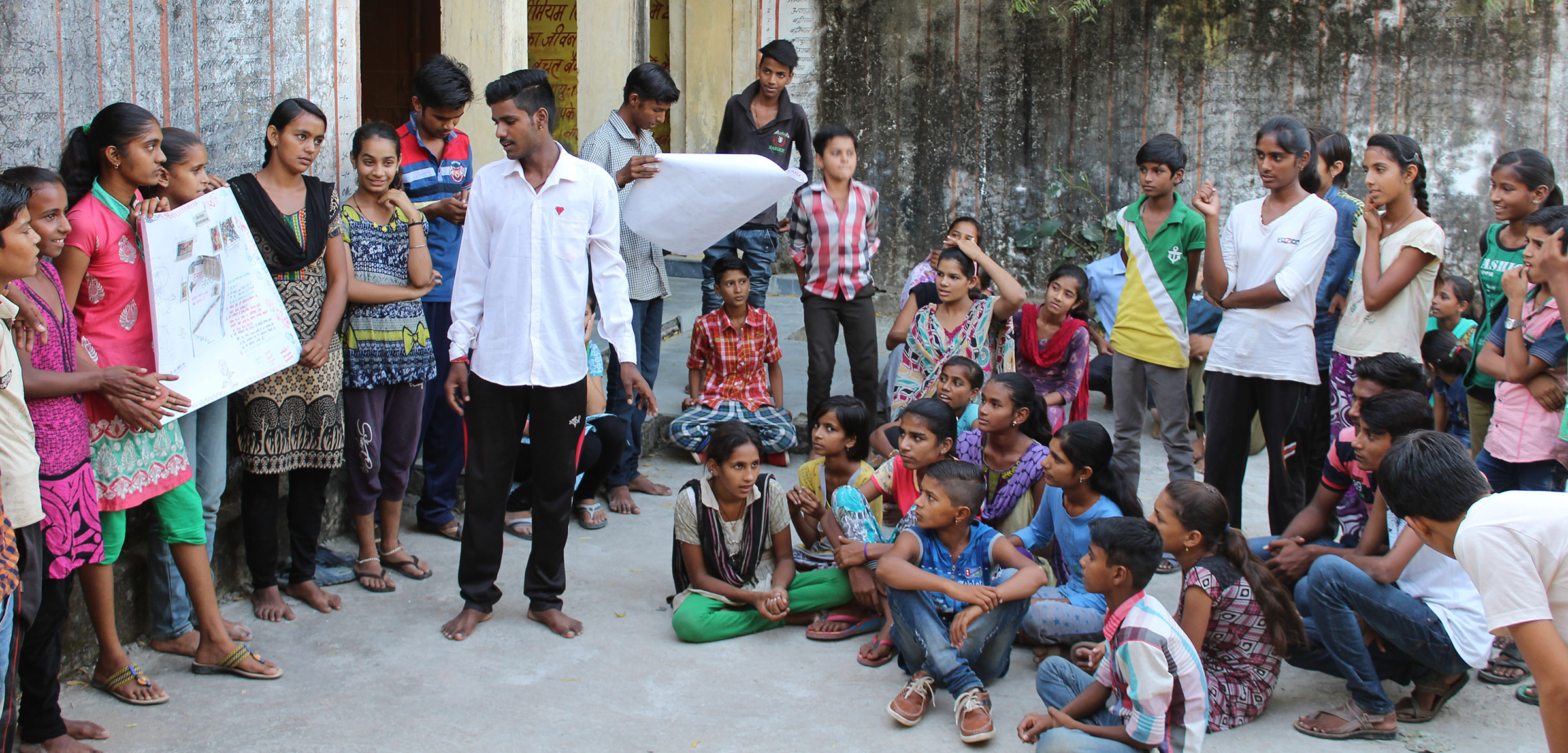 Community meeting during the Udaipur project