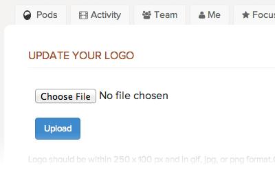 Upload your company logo