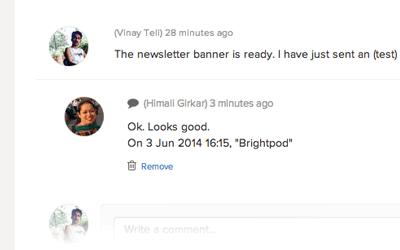 View comment thread in Brightpod