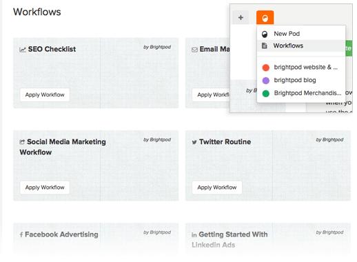 Brightpod Marketing Workflows