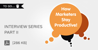 Brightpod: How Marketers Stay Productive - Interview Series Part II