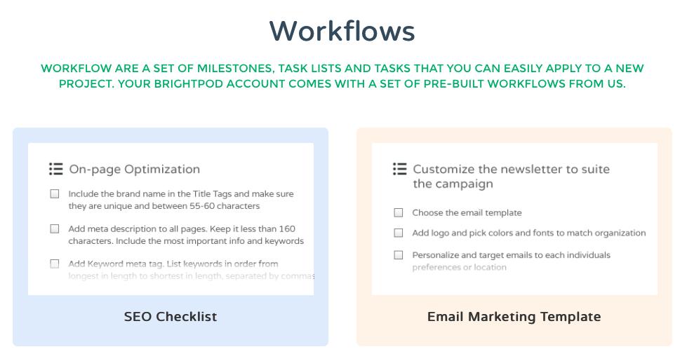 Brightpod Project Management Workflows