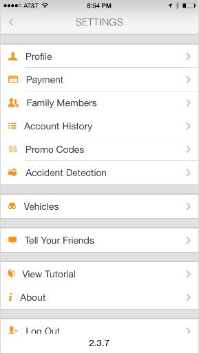 Urgently app settings
