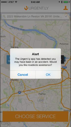 Urgent.ly accident detection alert