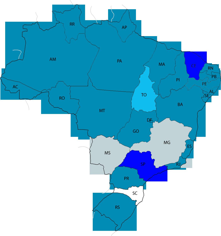 Mapa de lançamento da NFC-e