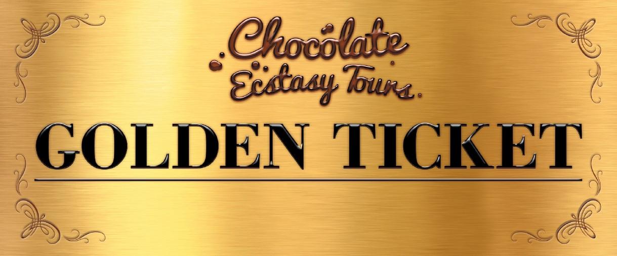 Chocolate Ecstasy Tours Golden Ticket