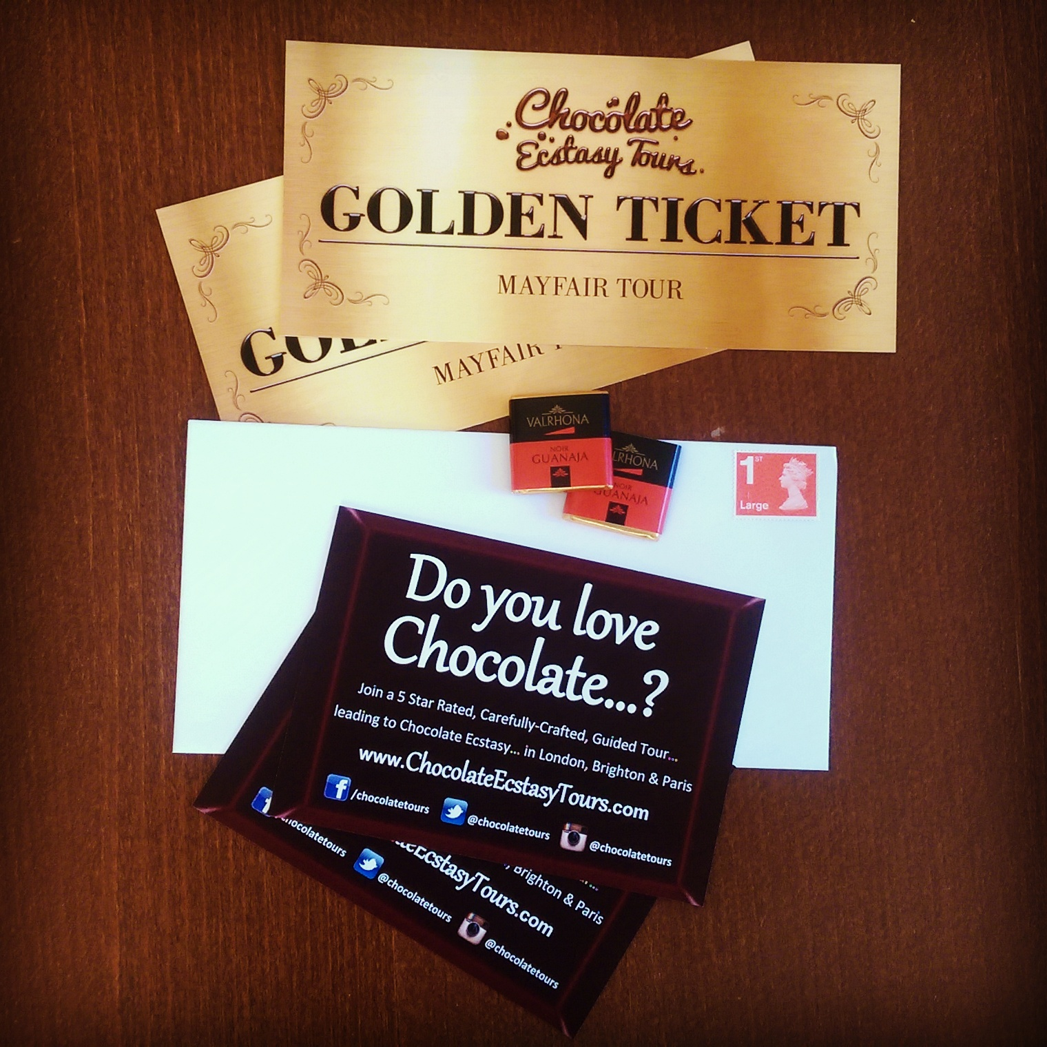 Chocolate Tour London Golden Tickets