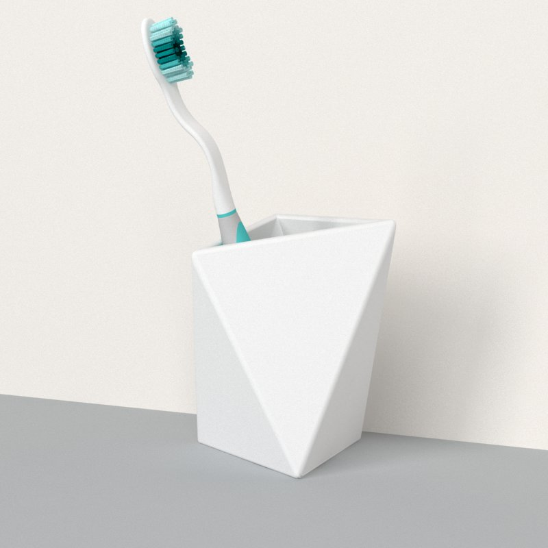 Geometric Tooth Brush Holder
