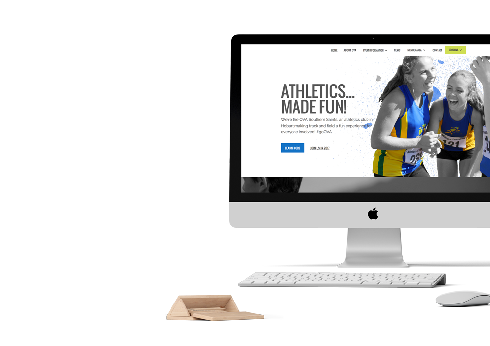 ova athletics hobart web design