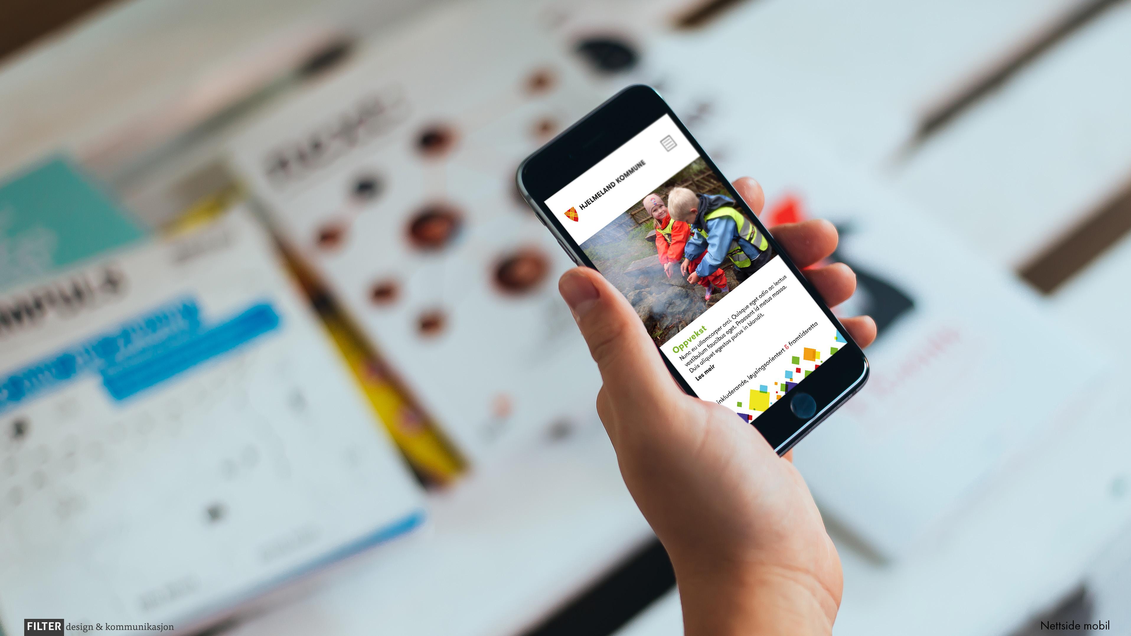 Design av nettside på mobil
