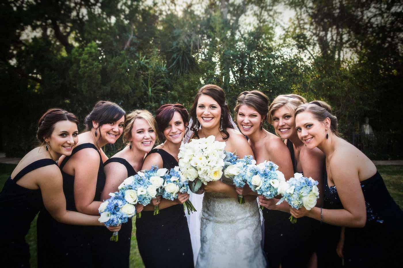 Bridesmaid Wedding Photos Flowers