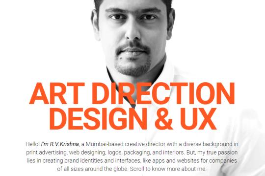 R V Krishna Art Direction Design User Experience Webflow