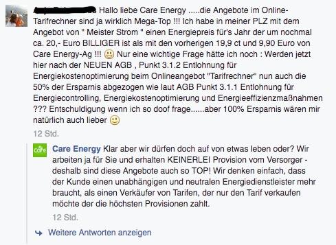 Care Energy Tarifrechner Konditionen