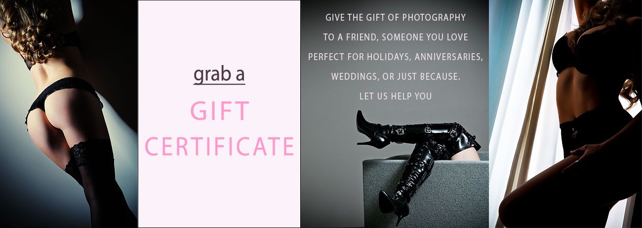 Boudoir Photography Gift Certificate Link