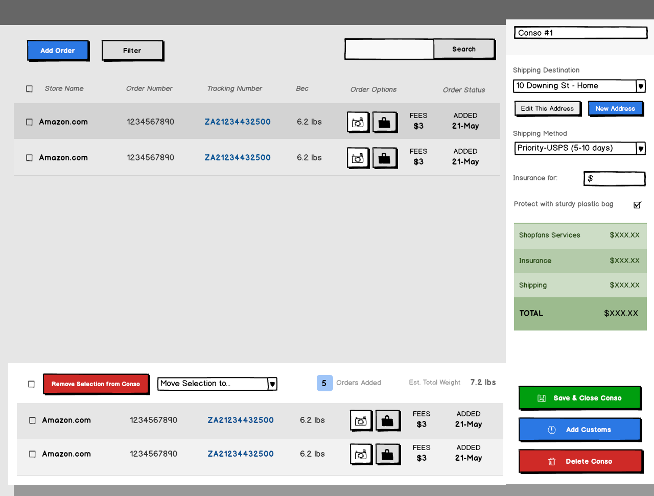Purchase Page Shopfans Desktop Web App Wireframe