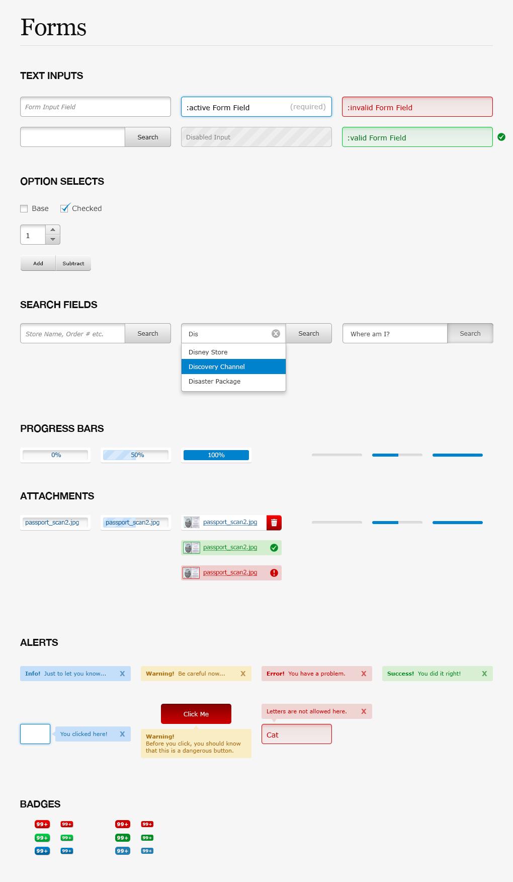 Shopfans Desktop Web App Forms Styleguide