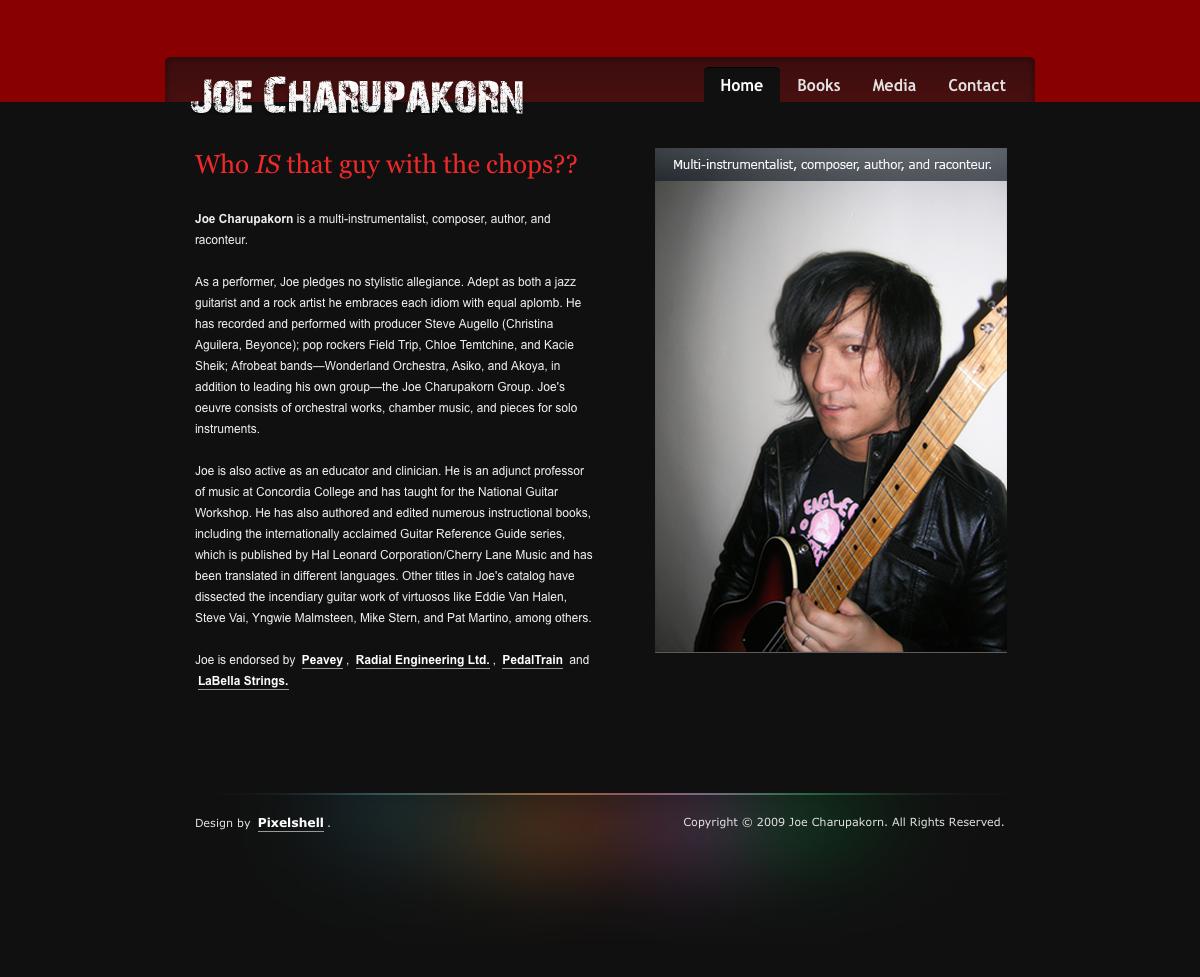 Joe Charupakorn Home Page Design