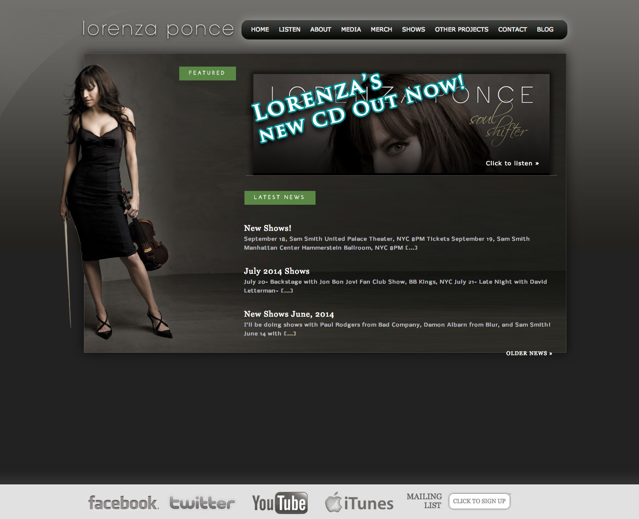 Lorenza Ponce Home Page Design