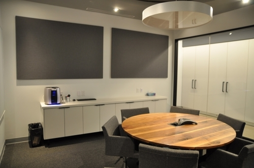 acoustic panel in a boardroom in Toronto