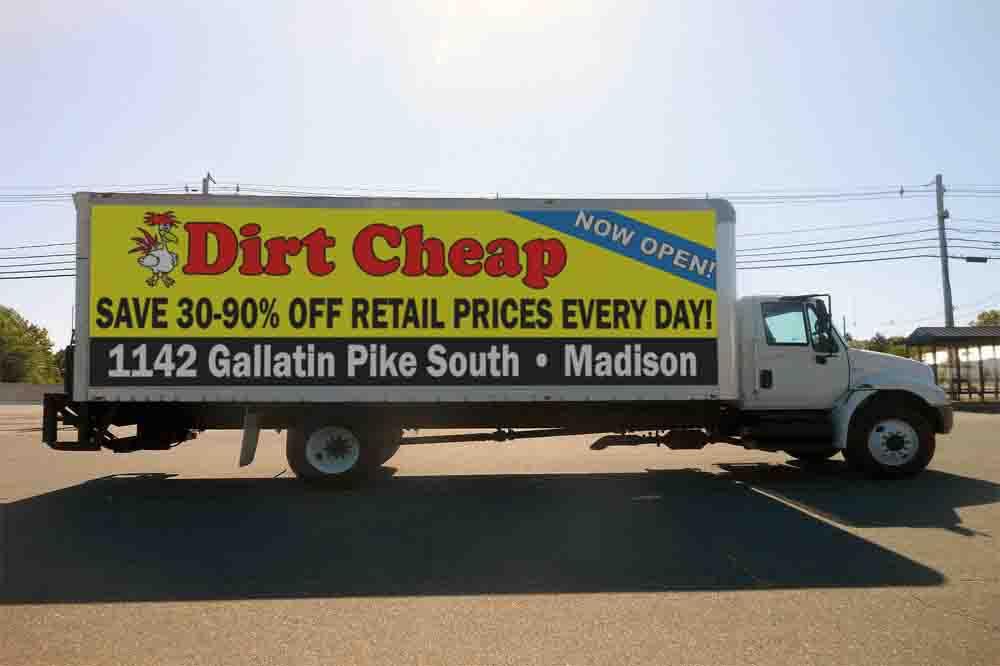 Dirt Cheap advertisement