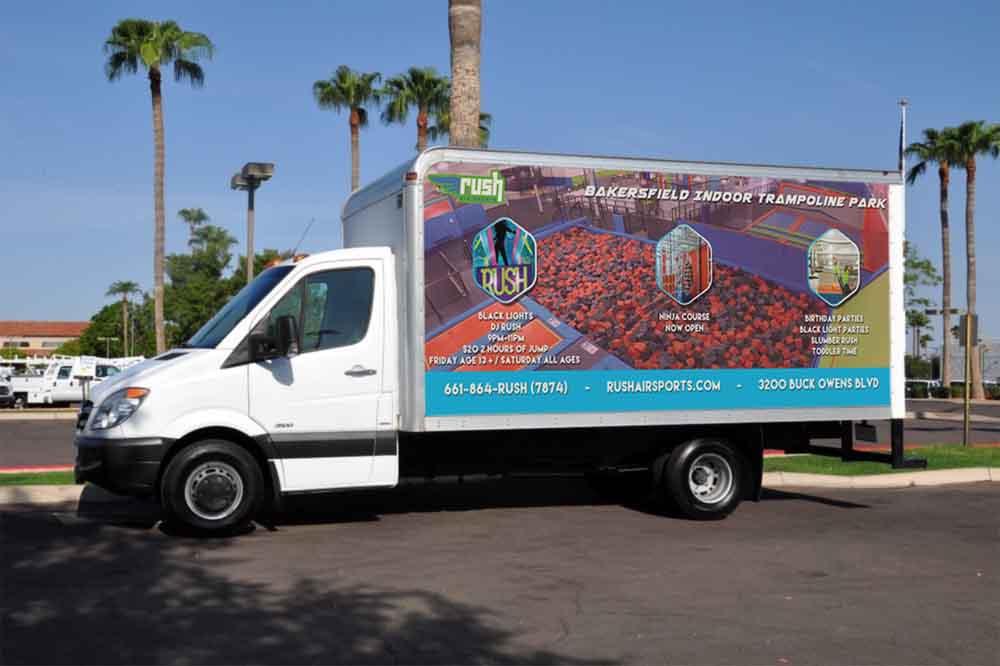 Rush Air Sports Mobile Billboard