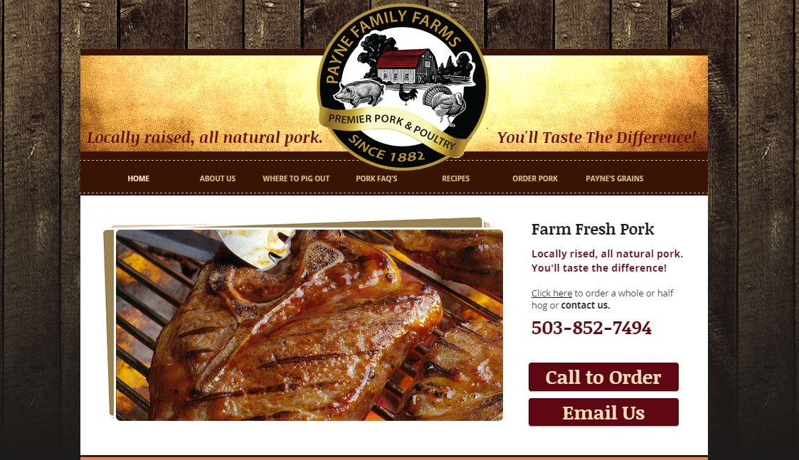 Pork Farm Website Design | Carlton Oregon