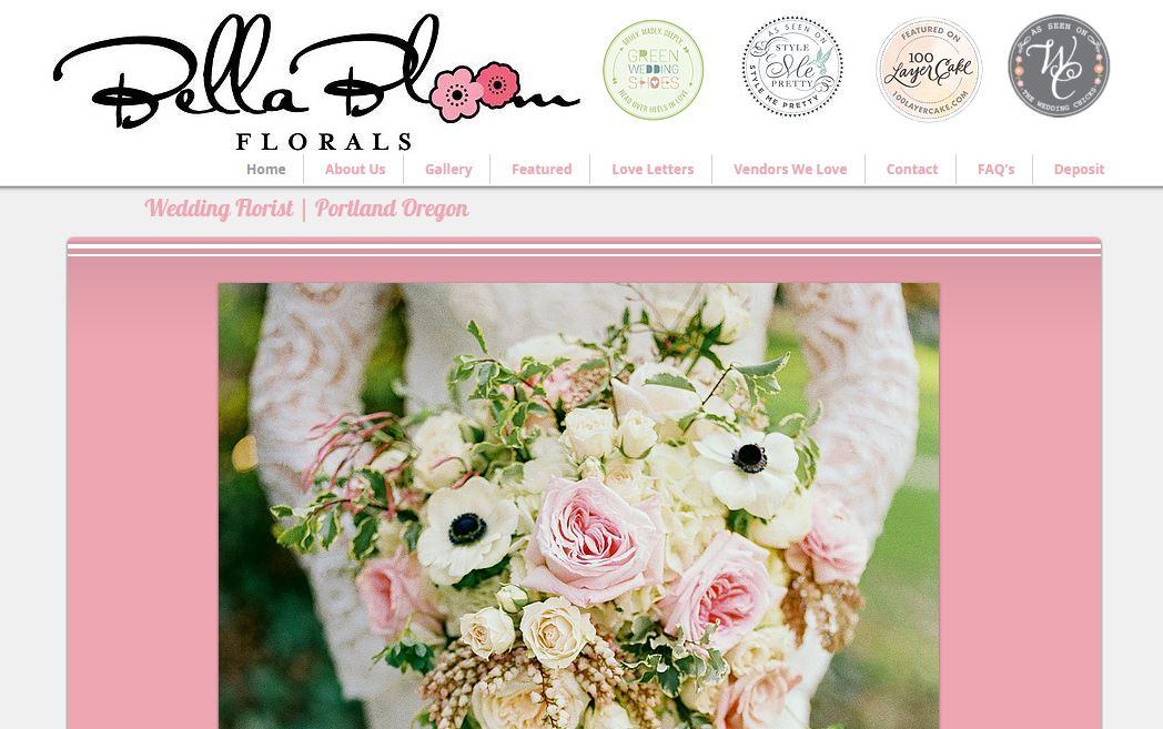 Wedding Florist Website Design | Sherwood Oregon