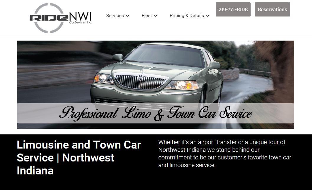 Limousine Service Website Design | Indiana