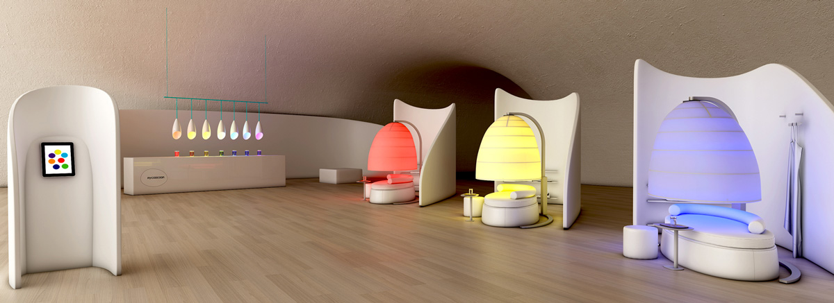 colour, color, couleur, well-being, innovation, lighting, pop-up, workshops, team building, immersion, experience, pod, sleep pod, Event, technology, architecture, workspaces, meditation, health, design, hospitality, spa, leisure, residential, offices, chromotherapy, London, Paris