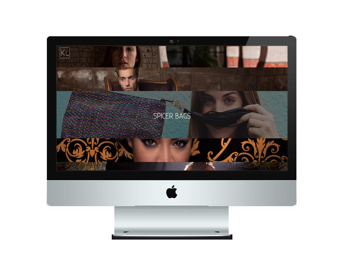 Screenshot of website menu