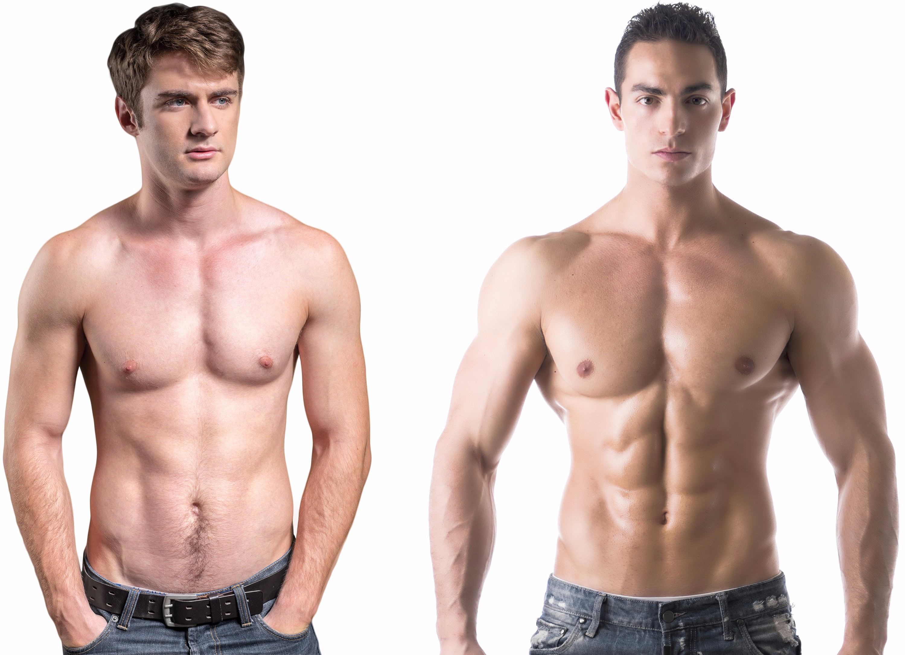Male physique comparison