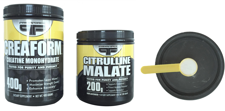 Creatine and citrulline malate