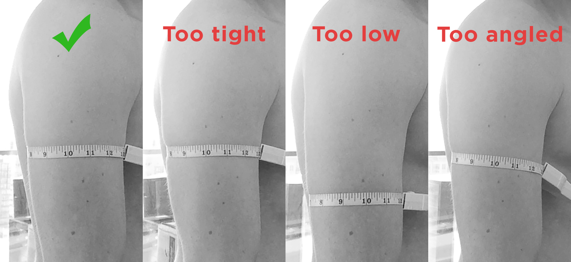 Body tape muscle arm measurement