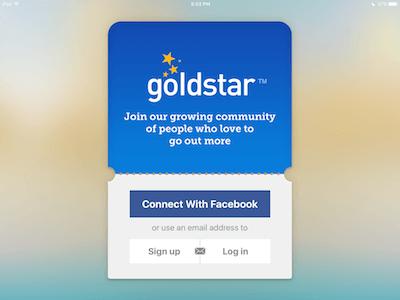 screenshot of goldstar app