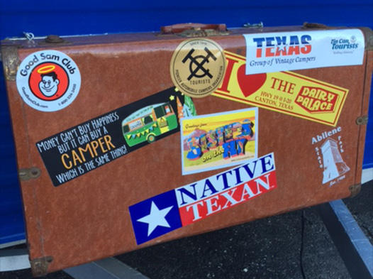 Photo of a trailer witha DP bumper sticker stuck to it