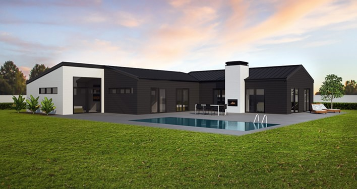 Hill homes nz house plans for Contemporary house designs nz