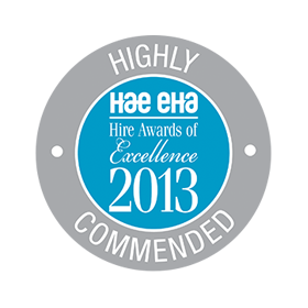 Alide Hire Bristol. Winners of HAE Hire Awards of Excellence 2013