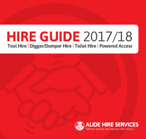 Sign for our Hire Guide. Alide Hire Services offering equipment rental solutions across South West England