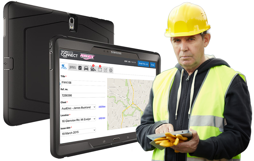Work Site Connect in rugged Otter Box for the toughest conditions