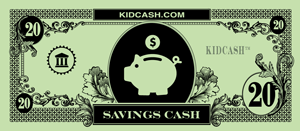 teach children money with kid cash savings dollars