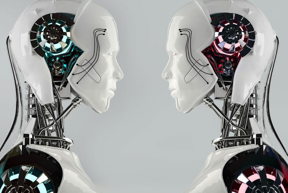 imagem de dois robôs se olhando